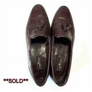SERGIO VALENTE Genuine Leather Slip On Dress Shoes